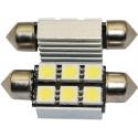 Festoon Canbus 6 LED 5050 SMD 36mm