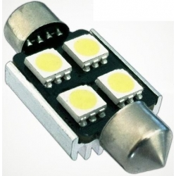 Festoon Canbus 4 LED 5050 SMD 36mm