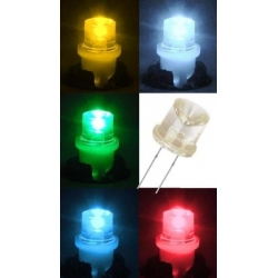 Led 10mm Inverted Flat top cabeza concava