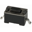 Pulsador Tact Switch SMD 6x3.5x3.5x0.5mm Negro