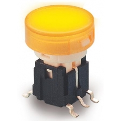 Pulsador Tact Switch 10x13mm luminoso