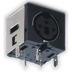 Conectores Mini-Din Hembra Chasis-Pcb