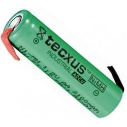Batería NI-MH TECXUS Recargable AA de 1.2v. con lengueta