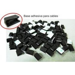 Sujeta cable adhesivo de nylon