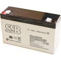 Bateria Plomo Gel recargable de 6v.12A