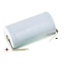 Batería NI-CD Recargable C-R14 1.2v.2.5A. con lengueta