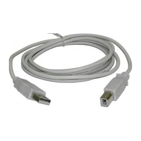 Cable USB-A Macho-Hembra Gris