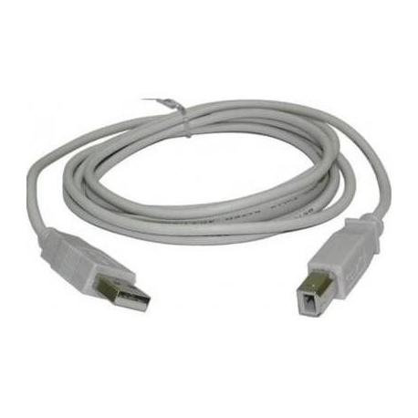 Cable USB-A Macho-Hembra Gris