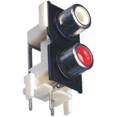 Conector RCA hembra doble acodado Pcb