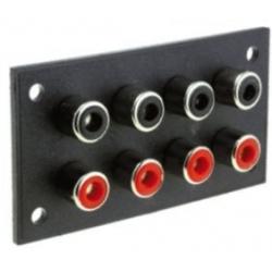 Conector RCA Hembra Cuádruple Panel