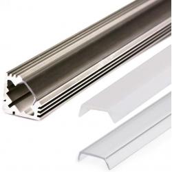 Perfiles Angulares Aluminio Tiras de Led 1 y 2M