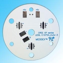 Pcb Star 35mm para 3 Led CREE XP-G