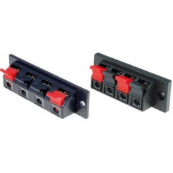 Conector de altavoz doble de panel