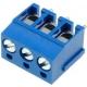 Bornas circuito impreso 5mm Azul