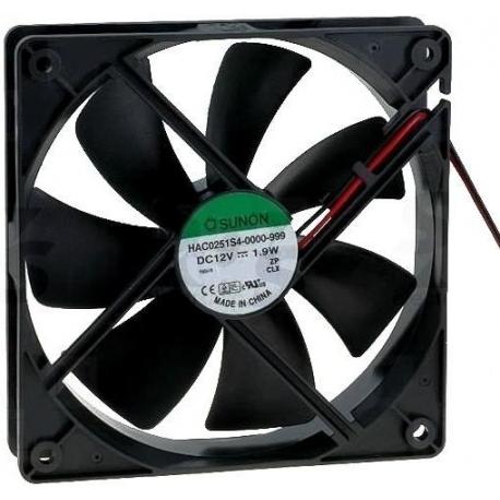 Ventilador refrigeración 12v. 120x120x25mm