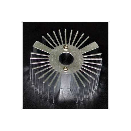 "Radiador Disipador térmico de aletas ""Star"" de 53mm"