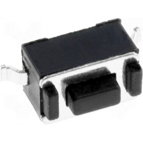 Tact Switch SMD 6x3.5x3.5mm Negro 0.5mm