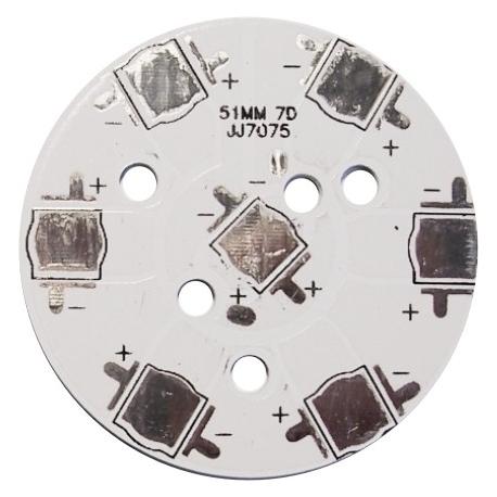 Circuito Impreso redondo 51mm 7 Led CREE-Lumiled