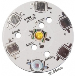 PCB redondo 51mm 7 Led CREE-Lumiled