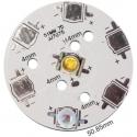 Circuito Impreso Redondo 51mm 7 Led Cree 7075