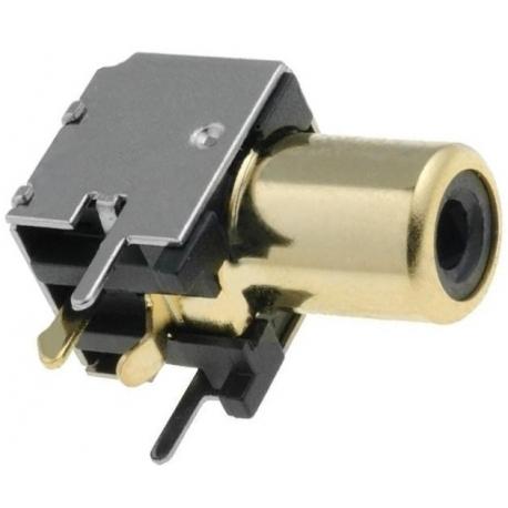 Conectores RCA Gold hembra acodado Pcb