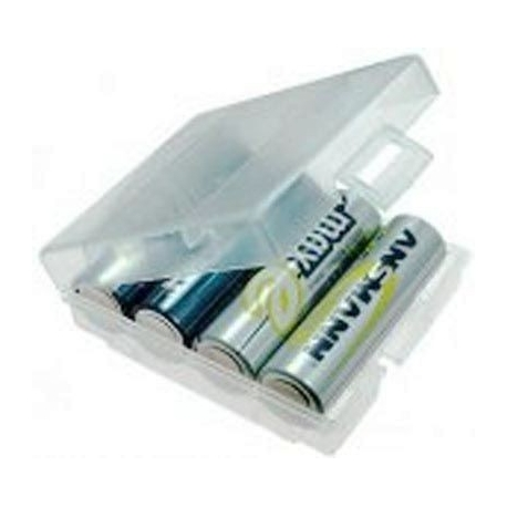 Caja Estuche de protección para Baterías 4 x R6/AA/14500/10440