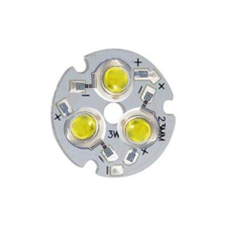 PCB redondo 23mm 3 Led Lumiled