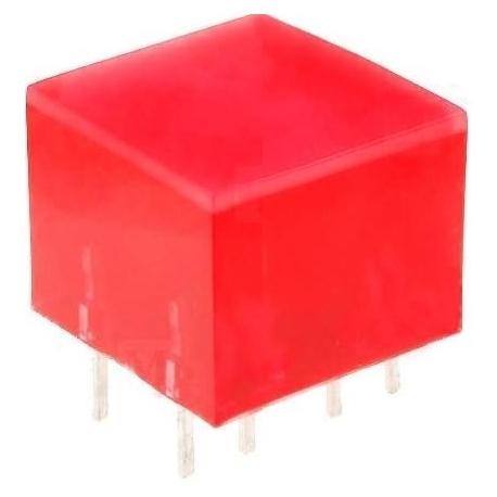 Cubo Led rojo