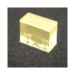 Cubo Led de 5x10mm amarillo