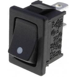 Interruptor basculante (Rocker) 2 pos.punto