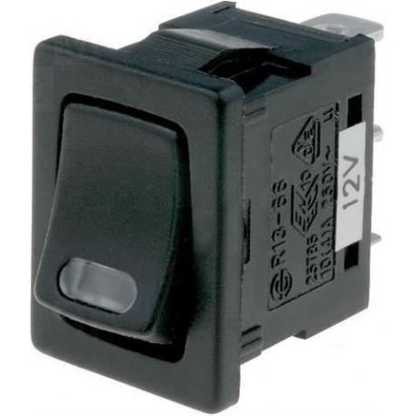 Interruptor basculante (Rocker) 2 pos.con Led