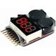 Monitor 3 dígitos Led y 2 buzzer de baterías Li-po