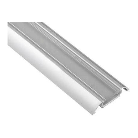 Perfil suelo de Aluminio transparente