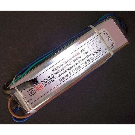 Driver IP66 Led RGB Mando IR 12-18x1w