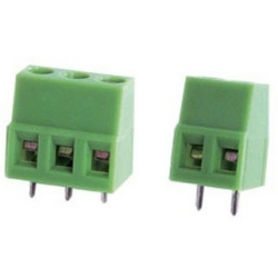 Bornas circuito impreso 15mm Recto paso 5mm