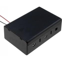 Porta Baterías y Pilas- 3xR20 con Tapa