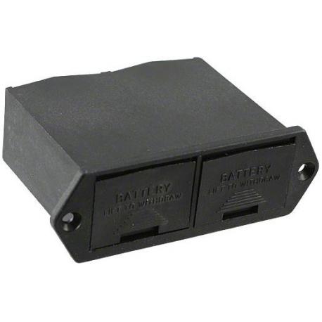 Portapilas Pilas/Baterías doble empotrable con tapa 2x9v