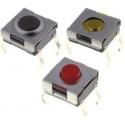 Pulsador Tact Switch de 6.2x6.3x3.1mm THT