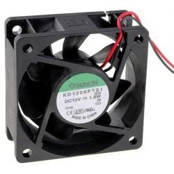 Ventilador refrigeración 12v. 60x60x25mm 21Db