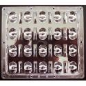 Lente Multi-Led 65ºx130º 124.6x110mm para 20 Led