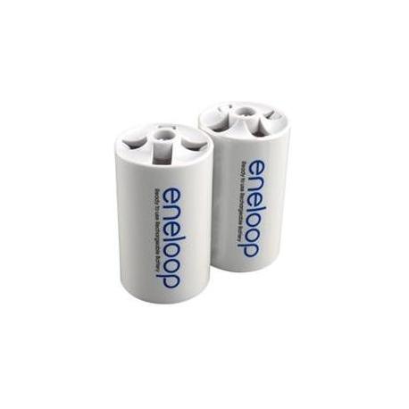 Adaptador Eneloop Batería-Pila 1-AA/R6 a 1 LR20/D