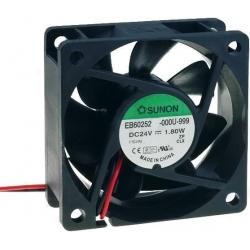 Ventilador refrigeración de 24v. 60x60x25mm 23Db