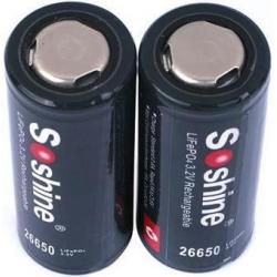 Bateria Soshine 26650- LifePo 3.2v 3.200mA.