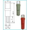 Bombillas Led T5 12v Invertido Flat Top