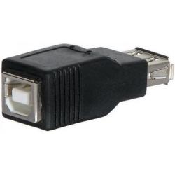 Adaptador USB-A/USB-B Hembra-Hembra