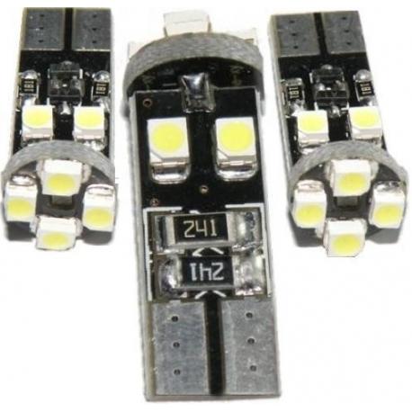 Bombilla LED T10 Canbus 8 Led 3528 SMD 12v