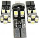 Bombilla LED T10 Canbus 8 Led 3528 SMD 12v. Blanco
