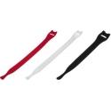 Lazos de Velcro 220mm Negros, Blancos o Rojos