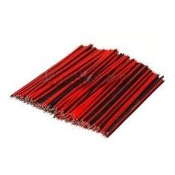 Cable Paralelo Rojo y Negro Cortado y Estañado 2X0.50mm
