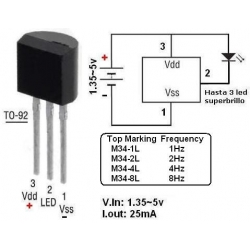 M34 Intermitente para Led